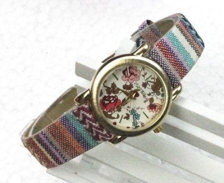 Retro Quartz Bohemian Flower Rainbow Wrist Watch - Wrapped & Gift Boxed, http://www.amazon.co.uk/dp/B009TNTJYM/ref=cm_sw_r_pi_awd_onNwsb1DCX8XY