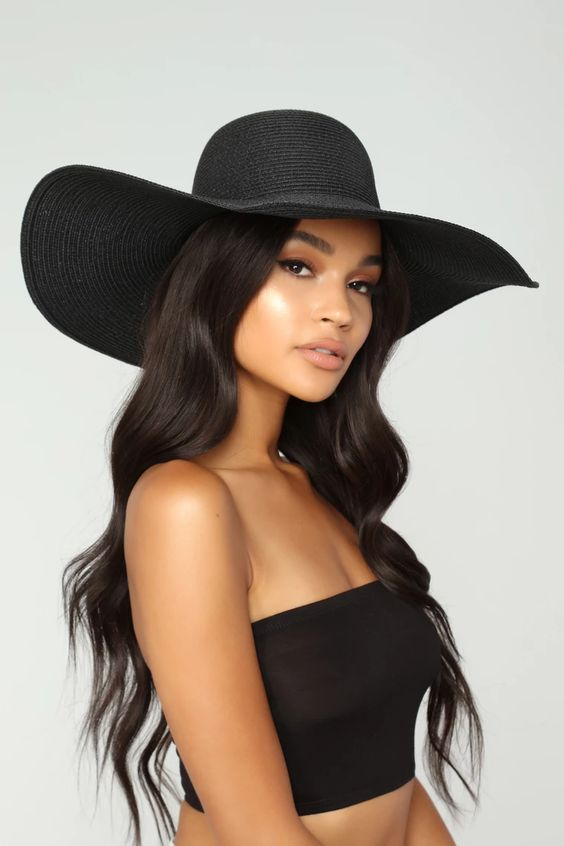 Feel The Heat Sun Hat - Black