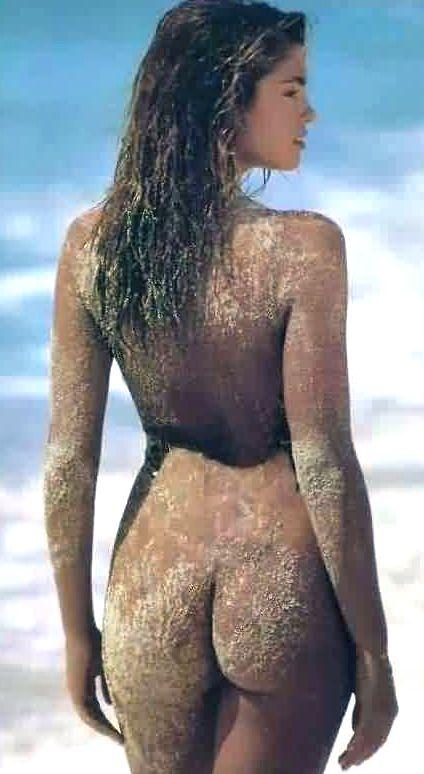 Sandra model pink bikini