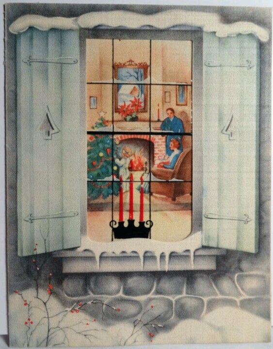 Vintage Christmas card.: