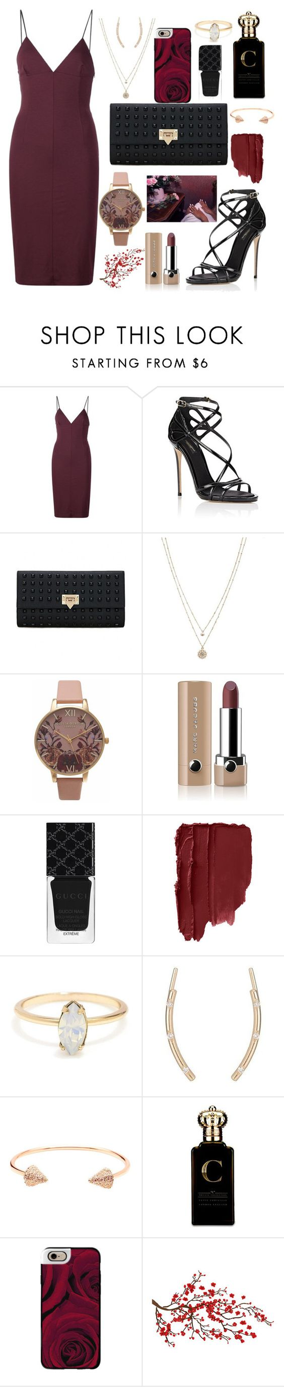 """""""Kyra"""" by anishagarner ❤ liked on Polyvore featuring T By Alexander Wang, Dolce&Gabbana, LC Lauren Conrad, Olivia Burton, Marc Jacobs, Gucci, CC SKYE, Clive Christian, Casetify and girlsnightout"""
