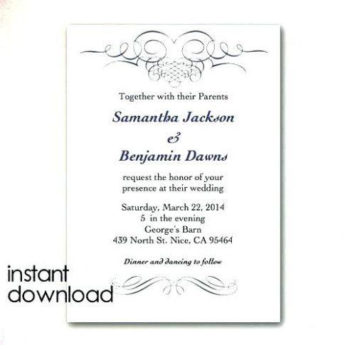 Microsoft Word Wedding Invitation Templates