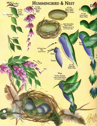 Hummingbird Nest RTG Worksheet 4 Binder Donna Dewberry | eBay