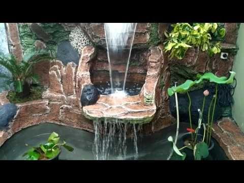 Jasa Pembuatan Kolam Air Terjun Relief Tebing Youtube Kolam Air Kolam Ikan Taman Air