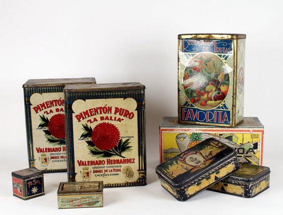 Lote de peças em lata produtos alimentares antigas