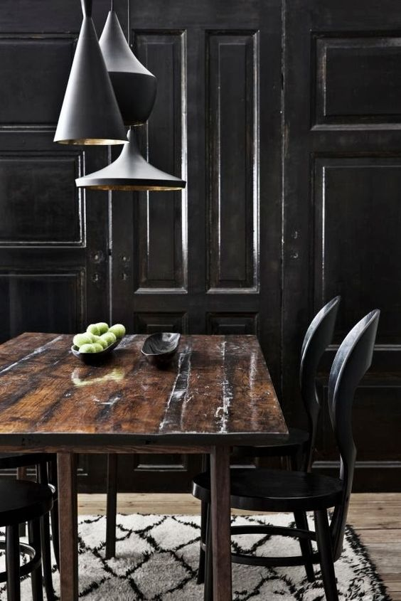 ~greige: interior design ideas and inspiration for the transitional home : darkest black walls