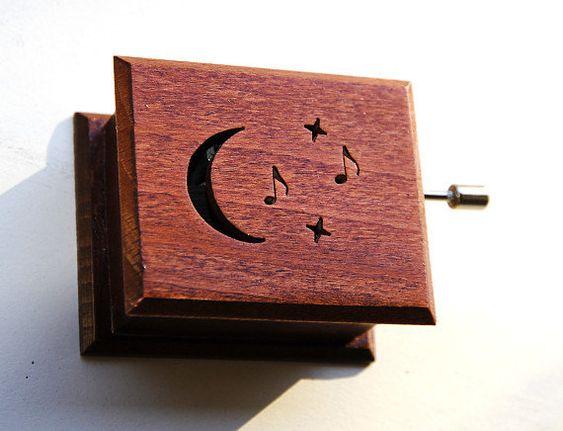 Wooden music box  Beethoven Moonlight Sonata by asmanykata on Etsy, $38.00
