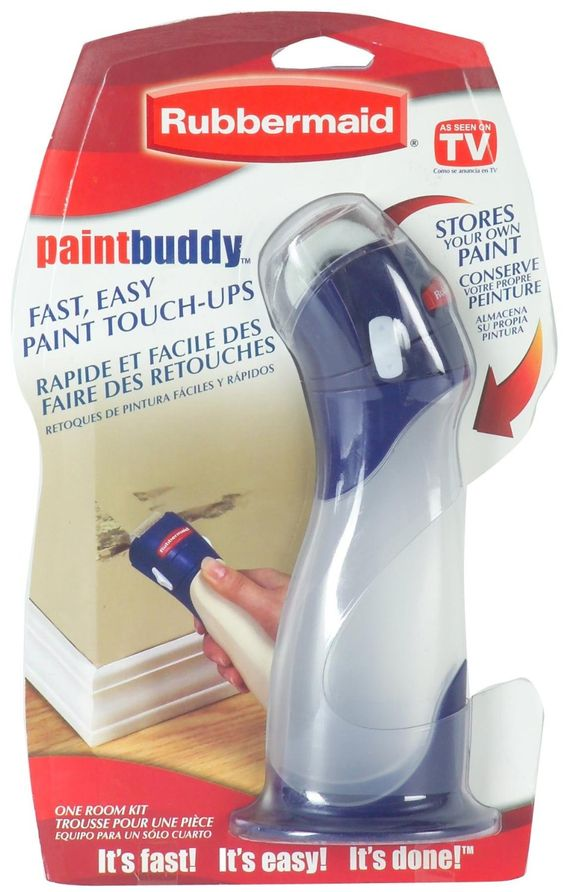 Rubbermaid 57930 Paint Buddy - Amazon.comRubbermaid Paint Buddy Simply fill each Paint Buddy with a different paint color and you are ready for touch ups on a moments notice. Uses a roller for smooth coverups. It also won a design award for it's sleek shape