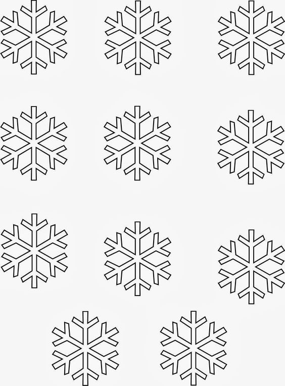 More Sprinkles for Me...: Template for white chocolate snowflakes for ...