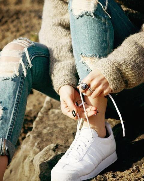 Adidas originials samoa perforati mono scarpe scarpe vegan