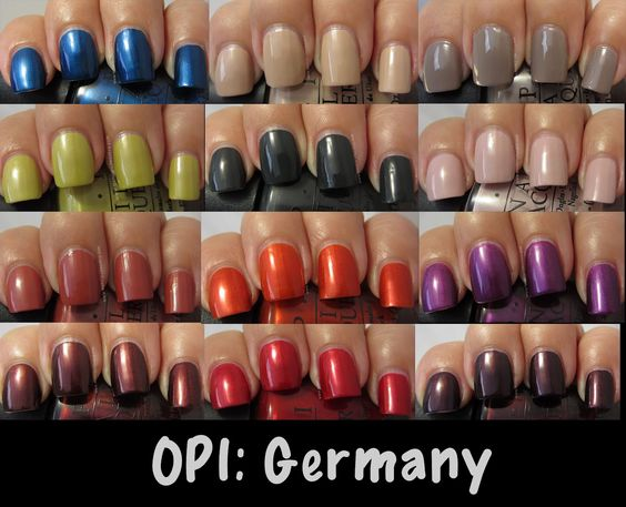 Loving this new fall collection: OPI: Germany Collection