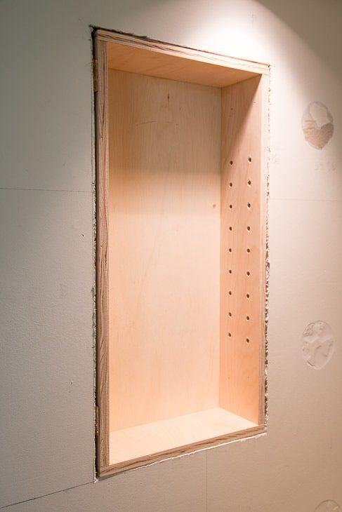 How To Build Recessed Bathroom Shelves Recessed Shelves Diy