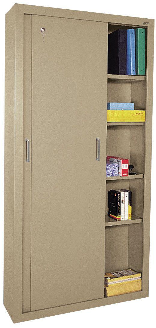 Sliding 2 Door Storage Cabinet