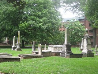 Old Settlers' Cemetery, Charlotte, North Carolina. The oldest grave is from 1776.