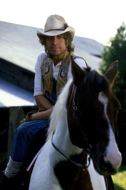 馬に乗るボブ・ディラン