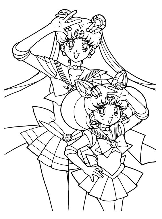 Hilaire image with sailor moon coloring pages printable