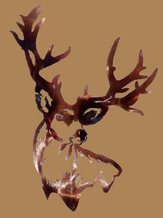 Mule Deer Head Clip Art | mule deer buck silhouette Car Tuning