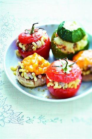 Légumes farcis aux coquillettes - Larousse Cuisine