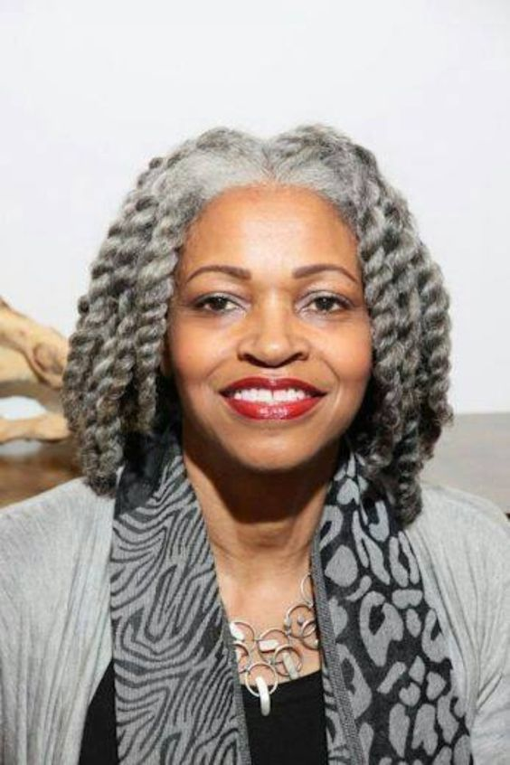 Grey Hair African American Woman: Beautiful, Grey And Twists On Pinterest