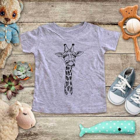Giraffe Infant Fine Jersey Bodysuit