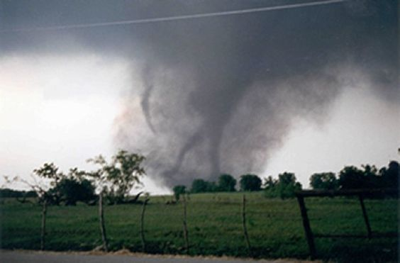 "Jarrell, Tx. Tornado, 1997. Indian legend calls this ""Dead Man Walking,"" meaning, if you see this image in a tornado, it will be deadly."