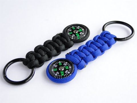How To Make A Simple Paracord Compass Keychain Cobra Weave Youtube