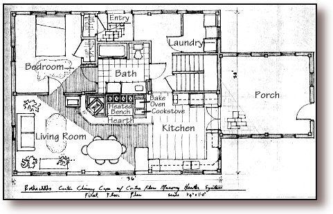 House plans stove and beds on pinterest for Thermal mass heater plans