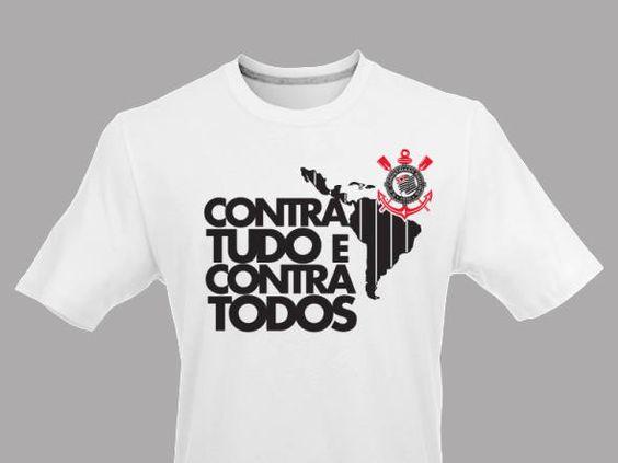 Camisa do Corinthians comemorando o título na Libertadores