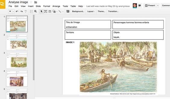 Faire une analyse d'images historiques sur une société particulière avec Google Présentation