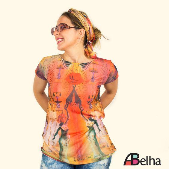 Camiseta As Férias de Salvador Dalí - ABelha Atelier