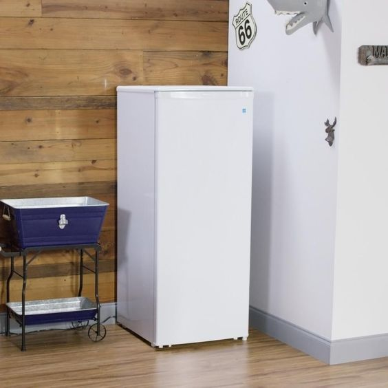 Danby Designer 24 In W 11 0 Cu Ft Freezerless Refrigerator In White Counter Depth Dar110a1wdd The Home Depot Upright Freezer Food Storage Shelves Freezerless Refrigerator