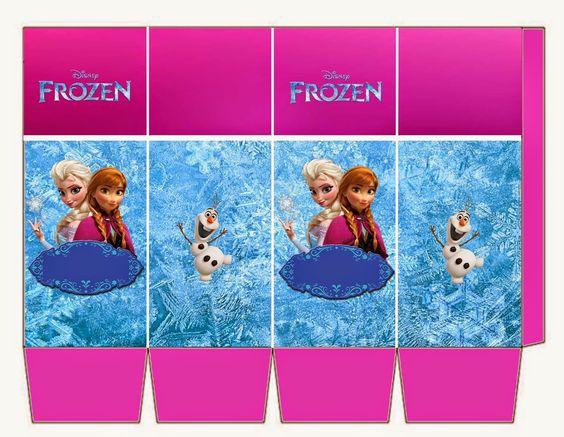 Kit de Frozen con Orilla Fucsia para Imprimir Gratis.: