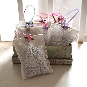 Lavender Bags. Great idea for wedding favors