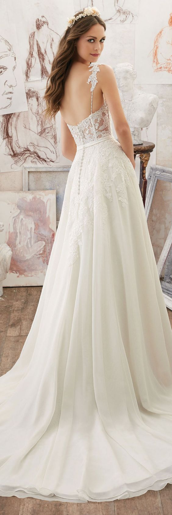 Mori Lee by Madeline Gardner Romantic Wedding Dress