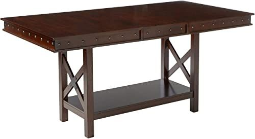 The Signature Design By Ashley Collenburg Counter Height Dining Room Table Dark Brown Online Shopping Dark Brown Furniture White Wooden Bed Furniture