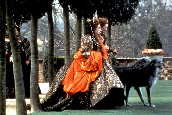 Tilda Swinton orlando - Elizabeth I and deerhounds: