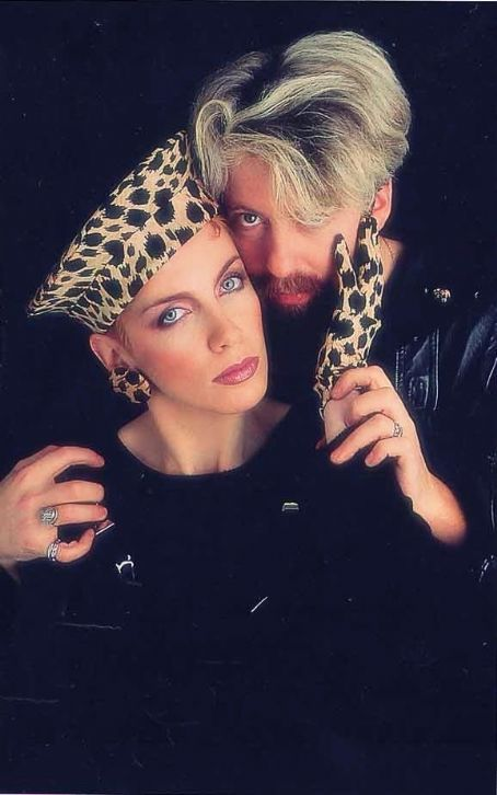Eurythmics. Annie Lennox and Dave Stewart helped to define the sound of the '80s. Leppard hat