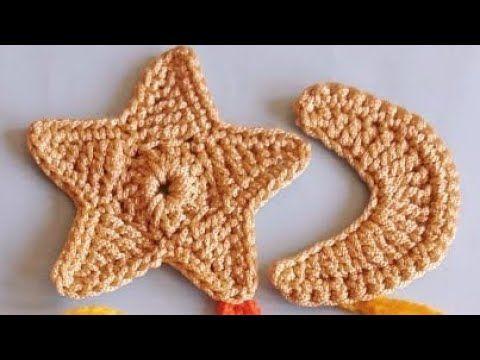 كروشيه زينة رمضان الهلال والنجمة Crochet Hilal Star For Ramadan Youtube In 2021 Crochet Crochet Applique Crochet Patterns
