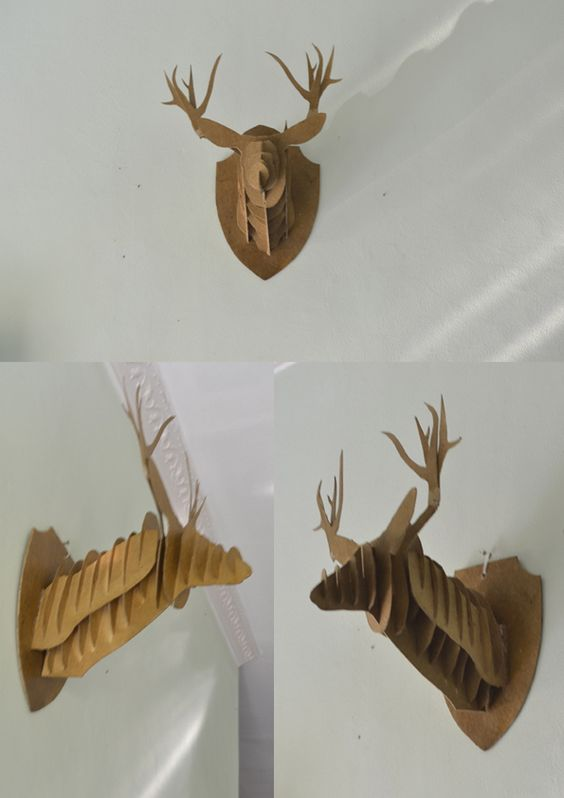 The Deer Head made by me, using 3mm yellow board. I get the instructions and…
