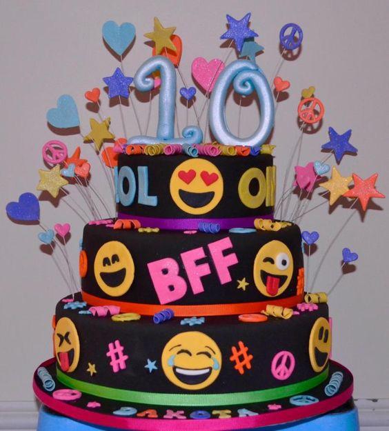 Emoji Cake 10th Birthday Cakes And 10th Birthday On Pinterest