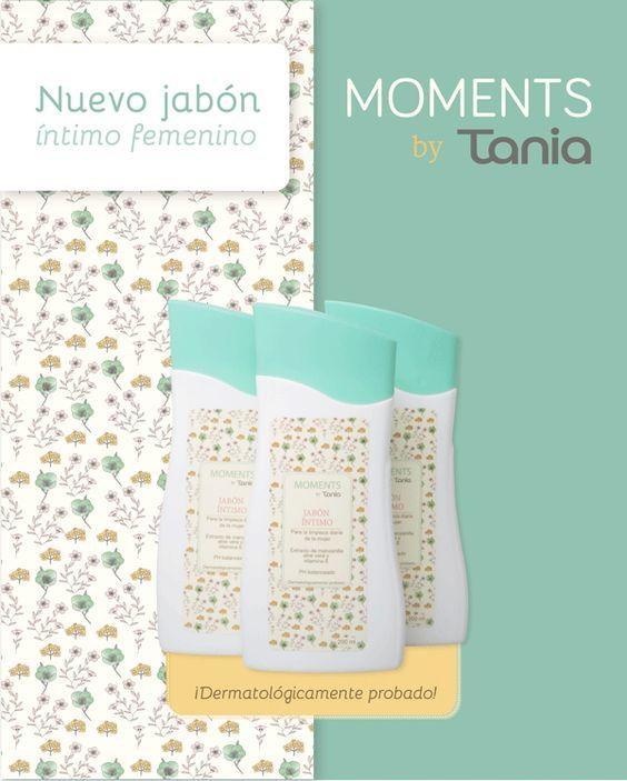 Nuevo jabón íntimo Moments by Tania, el acompañante ideal para los hábitos de limpieza de la mujer que quiere protegerse y cuidar siempre de su zona íntima.