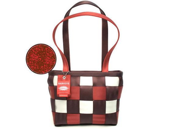 Harveys Seatbelt Bags LTD Medium Tote Red Velvet