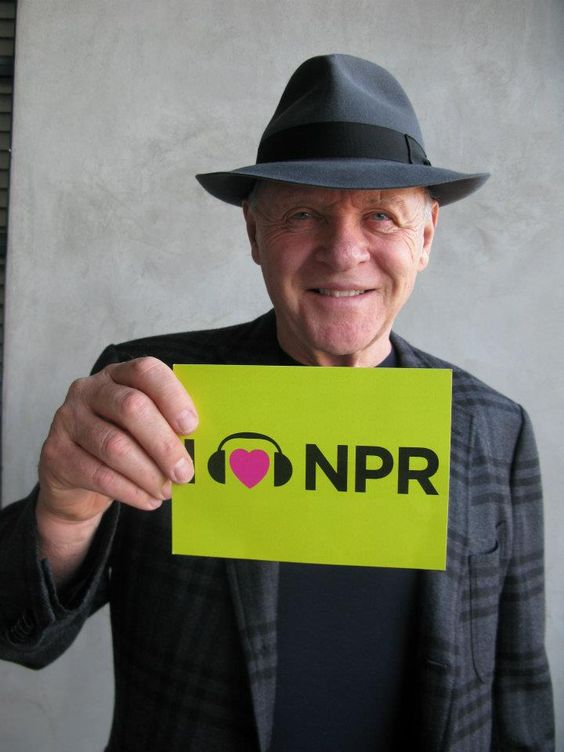 Anthony Hopkins <3s NPR and we <3 Anthony Hopkins!