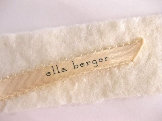 paper & ink: diy: fabric label name tags