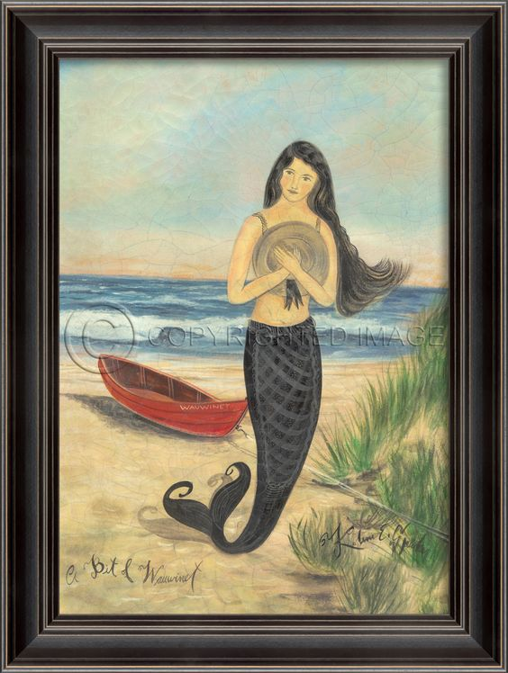 A Bit of Wauwinet (Black Frame) - Mermaids - Large - Distinguished Imports #mermaids #kolenespicher: