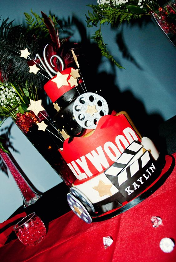 Sweet 16 Cake - Hollywood Theme                                                                                                                                                     More