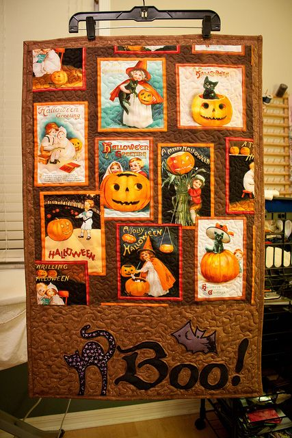 Halloween Quilted Wall Hanging My Quilts Amp Sundry Other