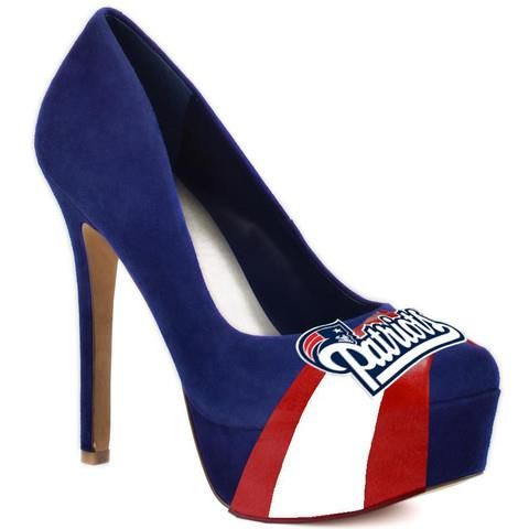 New England Patriots - HERSTAR™ Women's High Heel Suede Pumps ...