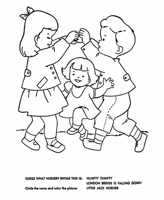 london bridge coloring page - nursery rhymes quiz coloring page hand embroidery