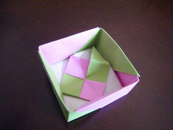 ハート 折り紙:折り紙 ギフトボックス 折り方-jp.pinterest.com